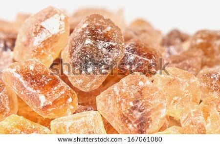 cane sugar on white background - stock photo