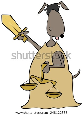 Canine lady justice - stock photo