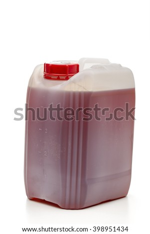 canister on the white background - stock photo