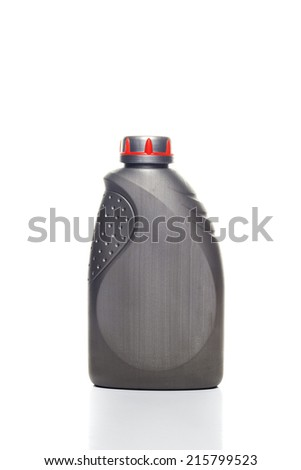 canister with machine oil isolated on white background