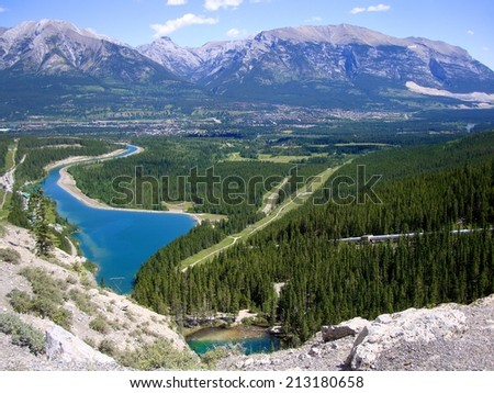 Canmore Overview - stock photo