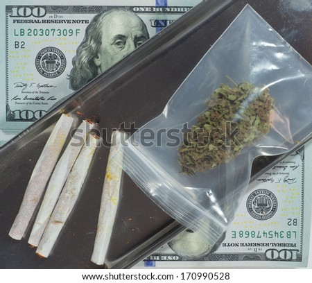 Cannabis for sale - stock photo