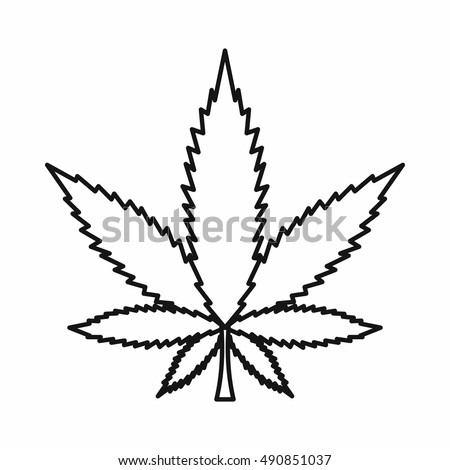 weed leaf template - leaf outline stock images royalty free images vectors