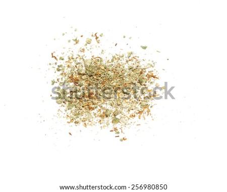 Cannabis White Background  - stock photo