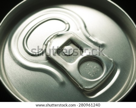 canned beers in black - stock photo
