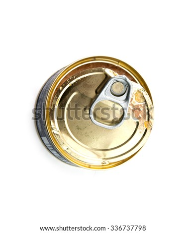 canned fish isolated on white background - stock photo