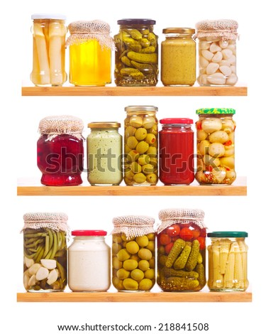 canned food isolated on white background - stock photo