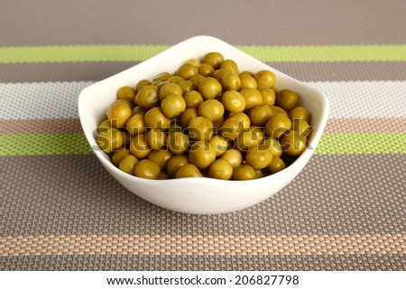 Canned Green Peas - stock photo