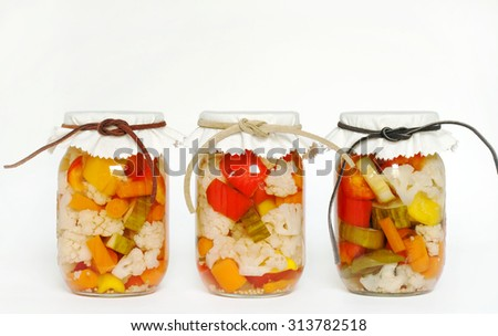 Canned Homegrown Pickled Vegetables