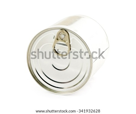 canned isolated on white background - stock photo