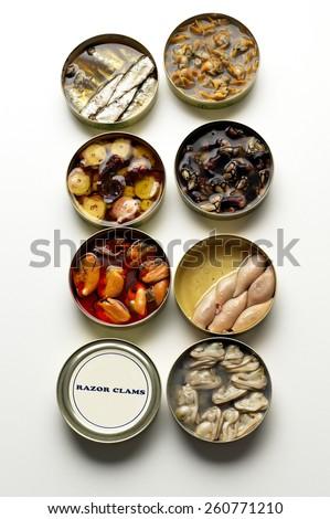 Canned Shellfish - stock photo