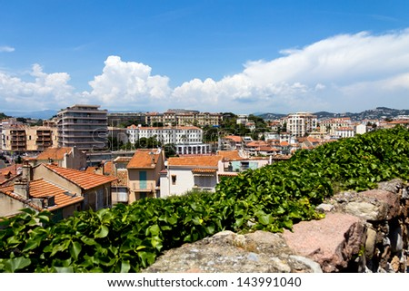 Cannes city view, south of France - stock photo
