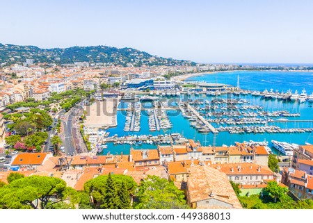 Cannes city view, south of France