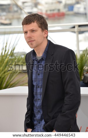 "CANNES, FR - MAY 11, 2016: Actor Jesse Eisenberg at the photocall for ""Cafe Society"" at the 69th Festival de Cannes."