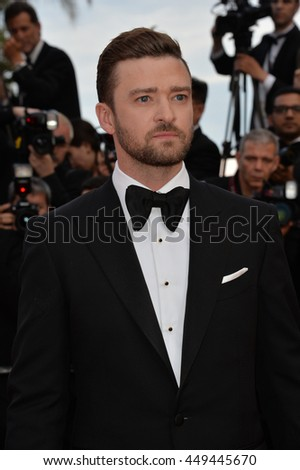 "CANNES, FR - MAY 11, 2016: Actor/singer Justin Timberlake at the gala premiere of Woody Allen's ""Cafe Society"" at the 69th Festival de Cannes."