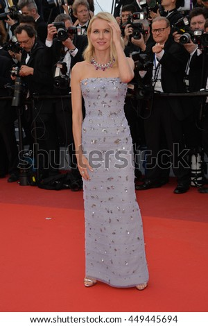 "CANNES, FR - MAY 11, 2016: Actress Naomi Watts at the gala premiere of Woody Allen's ""Cafe Society"" at the 69th Festival de Cannes."