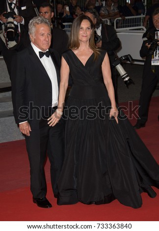 "CANNES, FR - May 21, 2017: Dustin Hoffman & Lisa Hoffman at the premiere for ""The Meyerowitz Stories"" at the 70th Festival de Cannes"