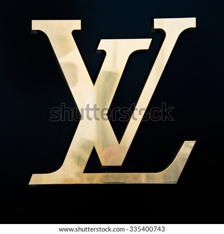 CANNES,FRANCE-AUGUST 01,2015: Louis Vuitton France Store Logo,present on the Côte d'Azur in Nice since 1908, Louis Vuitton opened his shop in Cannes in 1987.