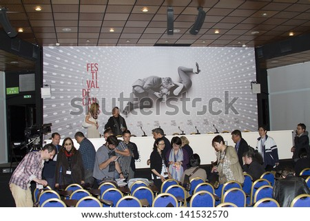 CANNES, FRANCE - MAY 25: A general view of atmosphere Press Conference  on during the 66th Annual Cannes Film Festival on May 25, 2013 in Cannes, France. - stock photo