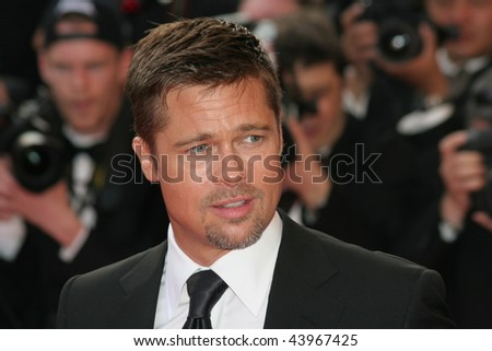 CANNES, FRANCE - MAY 15: Actor Brad Pitt attends the 'Kung Fu Panda' premiere at the Palais des Festivals during the 61st Cannes International Film Festival on May 15, 2008 in Cannes, France. - stock photo