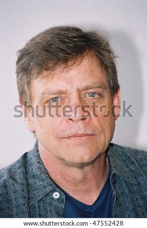 CANNES, FRANCE - MAY 21: Actor Mark Hamill poses at a photocall for the film 'The Big Red One' at the Majestic Beach Pier during the 57th  Cannes Film Festival May 21, 2004 in Cannes, France - stock photo
