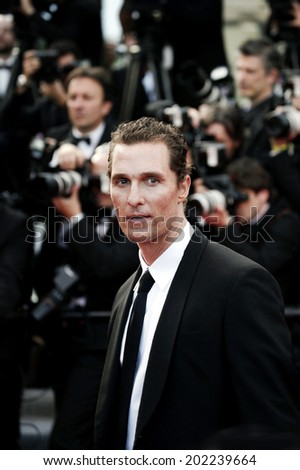 CANNES, FRANCE - MAY 24: Actor Matthew McConaughey attends 'The Paperboy' Premiere during 65th Cannes Film Festival on May 24, 2012 in Cannes, France