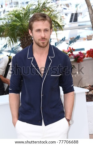 CANNES, FRANCE - MAY 20: Actor Ryan Gosling attends the 'Drive' photocall during the 64th Annual Cannes Film Festival at Palais des Festivals on May 20, 2011 in Cannes, France. - stock photo