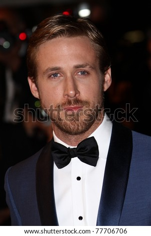 CANNES, FRANCE - MAY 20: Actor Ryan Gosling attends the 'Drive' premiere during the 64th Annual Cannes Film Festival at Palais des Festivals on May 20, 2011 in Cannes, France - stock photo