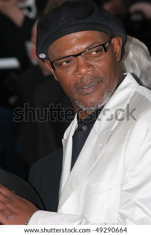 CANNES, FRANCE - MAY 15: Actor Samuel L. Jackson attends a screening of ' Star War III ' at the Grand Theatre during the 58th  Cannes Film Festival May 15, 2005 in Cannes, France - stock photo