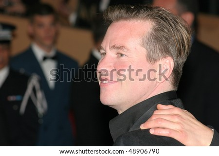 CANNES, FRANCE - MAY 14: Actor Val Kilmer attends a screening of 'Kiss Kiss Bang Bang' at the Grand Theatre during the 58th International Cannes Film Festival on May 14, 2005 in Cannes, France