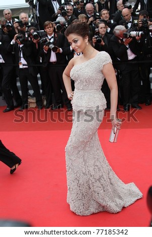 CANNES, FRANCE - MAY 11: Actress Aishwarya Rai Bachchan attends the Opening Ceremony at the Palais des Festivals during the 64th Cannes Film Festival on May 11, 2011 in Cannes, France