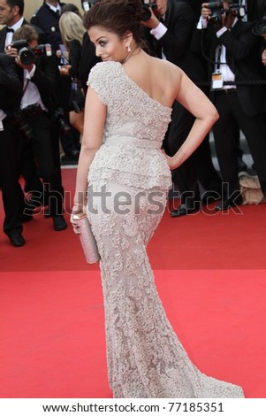 CANNES, FRANCE - MAY 11: Actress Aishwarya Rai Bachchan attends the Opening Ceremony at the Palais des Festivals during the 64th Cannes Film Festival on May 11, 2011 in Cannes, France - stock photo