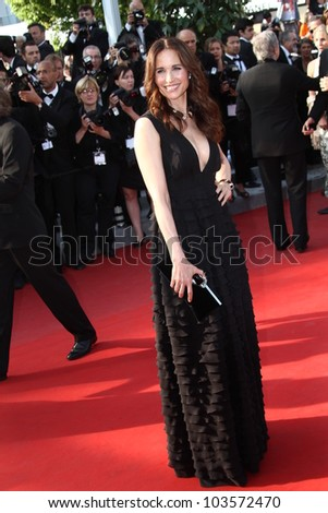 CANNES, FRANCE - MAY 26: Actress Andie MacDowell attends the 'Mud' Premiere during the 65th Annual Cannes Film Festival at Palais des Festivals on May 26, 2012 in Cannes, France. - stock photo