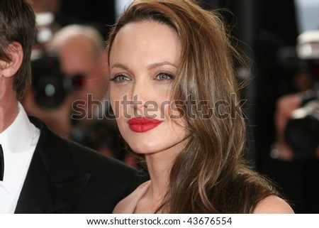 CANNES, FRANCE - MAY 20: Actress Angelina Jolie attends the 'Inglourious Basterds' Premiere at the Grand Theatre Lumiere during the 62nd Annual Cannes Film Festival on May 20, 2009 in Cannes, France. - stock photo