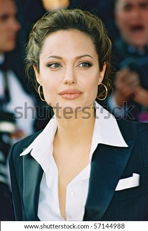 CANNES, FRANCE - MAY 15: Actress Angelina Jolie attends the 'Shrek 2' premiere at the Le Palais de Festival during the 57th Cannes International Film Festival May 15, 2004 in Cannes France - stock photo