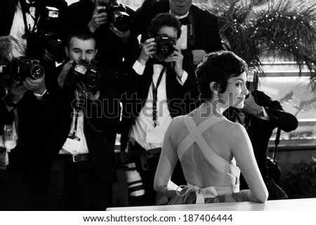 CANNES, FRANCE - MAY 26: Actress Audrey Tautou attends the Palme D'Or Winners photo-call during the 66th Cannes Film Festival on May 26, 2013 in Cannes, France.