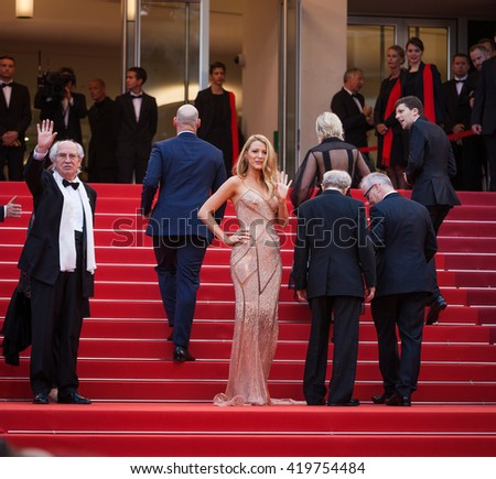 Cannes, France - 11 MAY 2016 -  actress Blake Lively attend the screening of 'Cafe Society' at the opening gala of the annual 69th Cannes Film Festival - stock photo