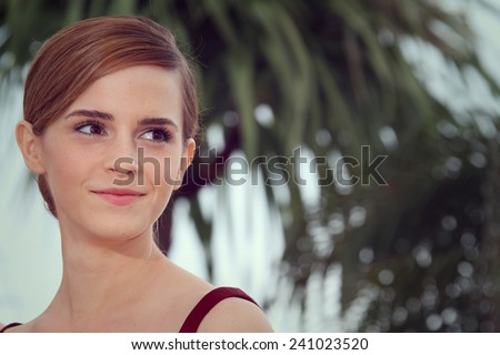 CANNES, FRANCE - MAY 16: Actress Emma Watson attends 'The Bling Ring' photocall during the 66th Cannes Film Festival at Palais des Festival on May 16, 2013 in Cannes, France. - stock photo