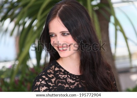 CANNES, FRANCE - MAY 17: Actress Eva Green attends the 'The Salvation' photocall at the 67th Annual Cannes Film Festival on May 17, 2014 in Cannes, France. - stock photo