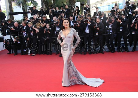 CANNES, FRANCE - MAY 18: Actress Eva Longoria attends the Premiere of 'Inside Out' during the 68th annual Cannes Film Festival on May 18, 2015 in Cannes, France. - stock photo