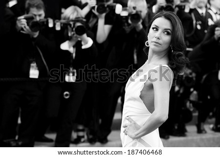CANNES, FRANCE - MAY 17: Actress Eva Longoria attends the premiere of 'Rust and Bone' at the 65th Cannes Film Festival on May 17, 2012 in Cannes. - stock photo