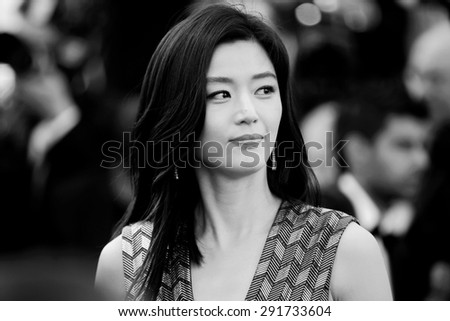 CANNES, FRANCE- MAY 17: Actress Gianna Jun attends the Premiere of 'Rocco And His Brothers' during the 68th Cannes Film Festival on May 17, 2015 in Cannes, France. - stock photo