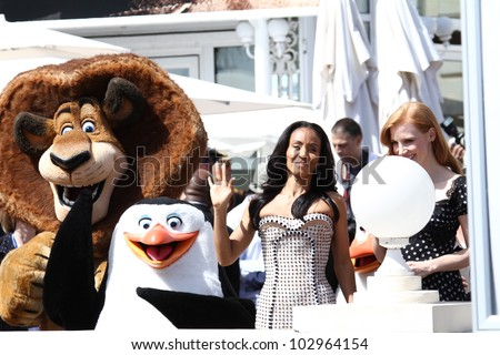 CANNES, FRANCE - MAY 17: Actress Jada Pinkett Smith attends the 'Madagascar 3' cannes photocall during the 65th Annual Cannes Film Festival on May 17, 2012 in Cannes, France. - stock photo