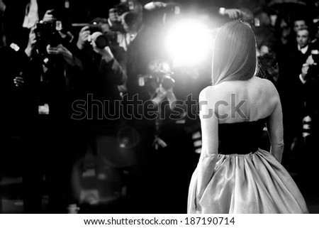 CANNES, FRANCE - MAY 15: Actress Julianne Moore attends the Opening Ceremony at The 66th Cannes Film Festival on May 15, 2013 in Cannes, France. - stock photo