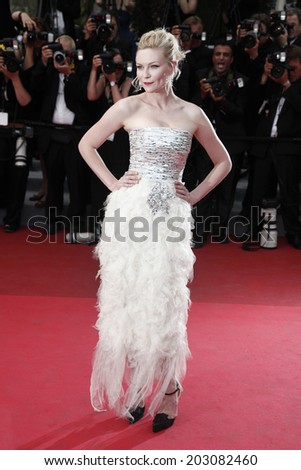 CANNES, FRANCE - MAY 22: Actress Kirsten Dunst attends the 'Les Bien-Aimes' premiere at the Palais des Festivals during the 64th Cannes Film Festival on May 22, 2011 in Cannes, France - stock photo