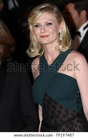 CANNES, FRANCE - MAY 18: Actress Kirsten Dunst attends the 'Melancholia' premiere during the 64th Annual Cannes Film Festival at Palais des Festivals on May 18, 2011 in Cannes, France.