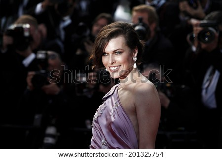 CANNES, FRANCE - MAY 23: Actress Milla Jovovich attends the 'On The Road' Premiere during the 65th Cannes Film Festival on May 23, 2012 in Cannes, France - stock photo