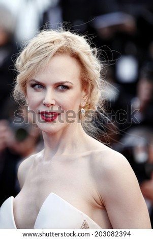 CANNES, FRANCE - MAY 26: Actress Nicole Kidman attends the Closing ceremony during the 66th Cannes Film Festival on May 26, 2013 in Cannes, France. - stock photo