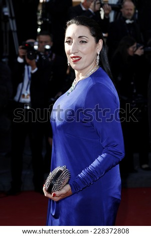 CANNES, FRANCE - MAY 25: Actress Rossy de Palma attends the Premiere of 'La venus a la Fourrure' during the 66th Cannes Film Festival on May 25, 2013 in Cannes, France - stock photo