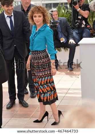 CANNES, FRANCE - MAY 11, 2016: Actress Valeria Golino at the photocall for the Jury at the 69th Festival de Cannes.
